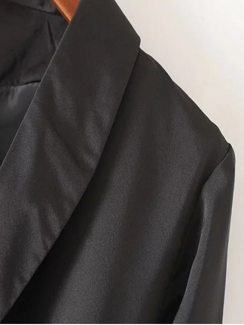 women's Embroidered Back Trench Coat - BLACK L Mobile
