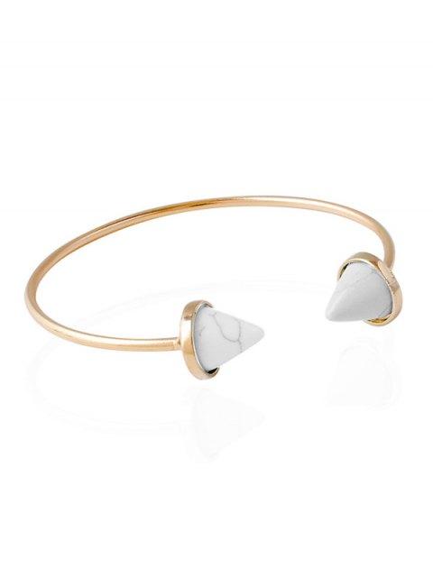 lady Cone Faux Rammel Boho Jewelry Bracelet - WHITE  Mobile