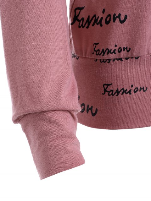women's Lettering Hoodie - PINK S Mobile