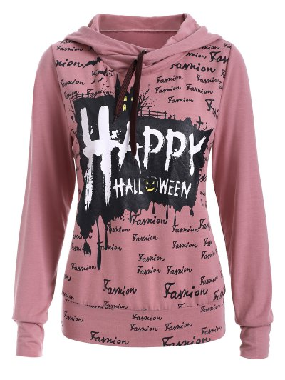 Lettering Hoodie - PINK XL Mobile
