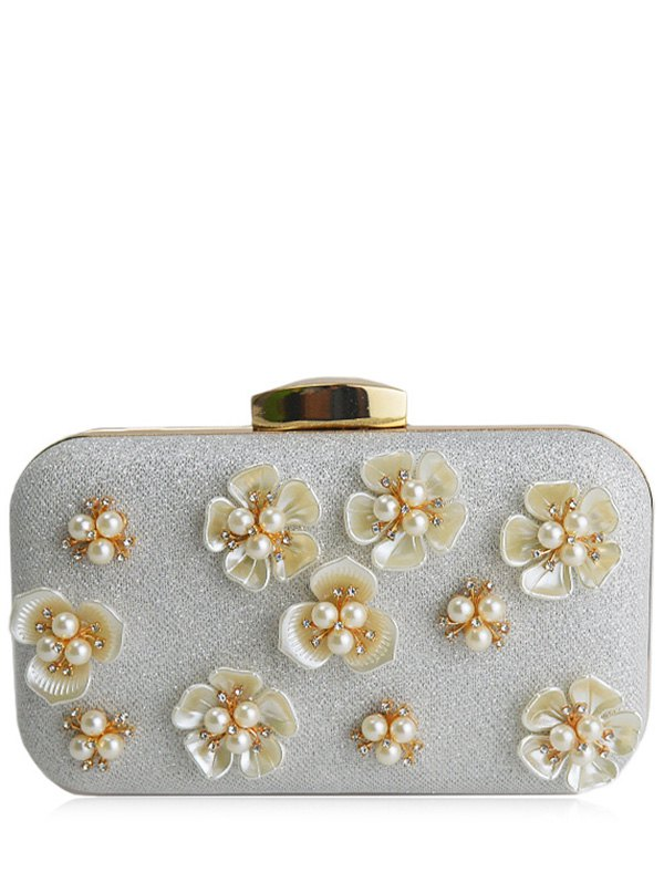 Beading Flower Evening Bag