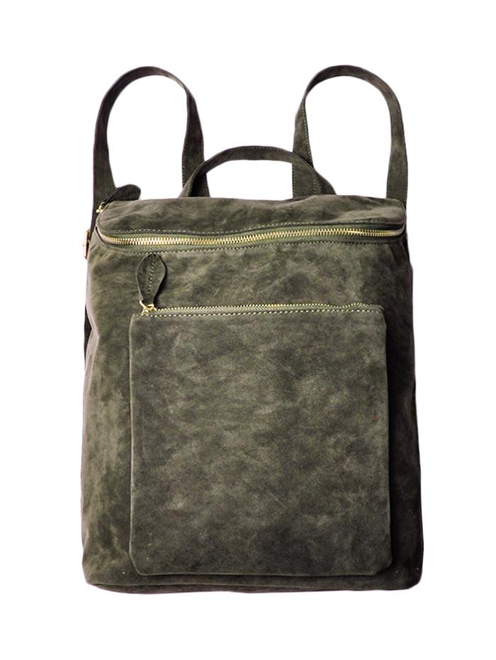 Suede Zips Backpack