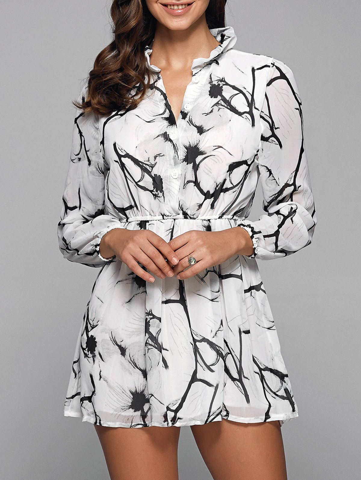 Chinese Painting Print Dress