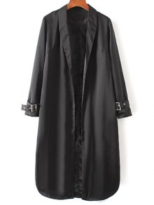 Embroidered Back Trench Coat