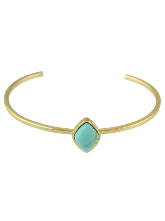 Geometric Faux Rammel Boho Jewelry Bracelet - BLUE  Mobile