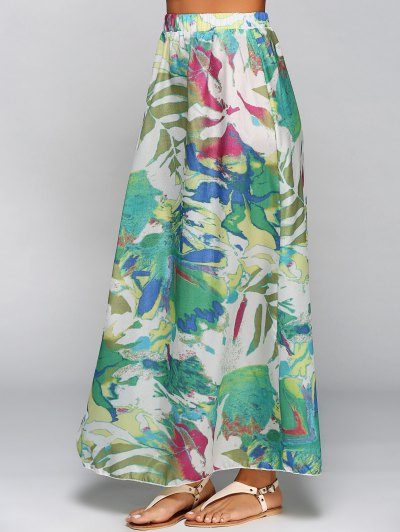 Printed Chiffon Maxi Skirt - COLORMIX XL Mobile