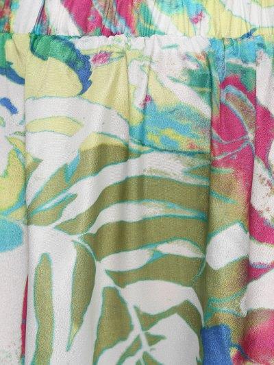 Printed Chiffon Maxi Skirt - COLORMIX L Mobile