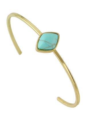 Geometric Faux Rammel Boho Jewelry Bracelet - Blue