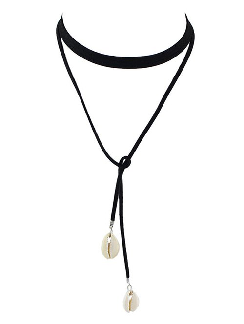 Faux Leather Rope Conch Choker Necklace