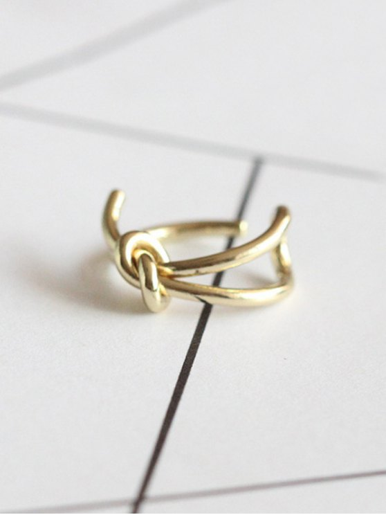 Knotted Open Ring - GOLDEN  Mobile