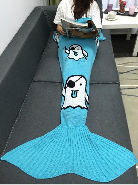 latest Halloween Ghost Multicolor Crochet Knitting Mermaid Tail Style Blanket -   Mobile