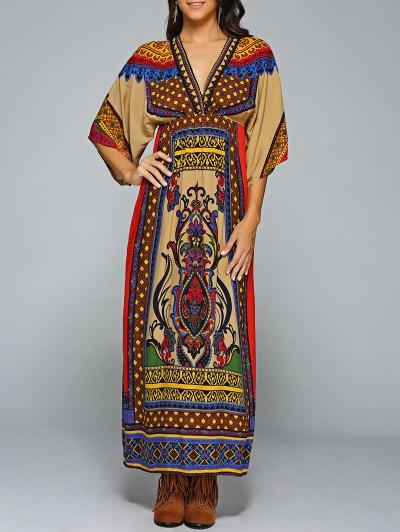 Impreso Vestido Maxi Kaftan