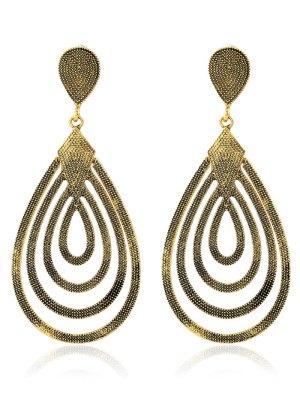 Filigree Teardrop Earrings - Champagne Gold