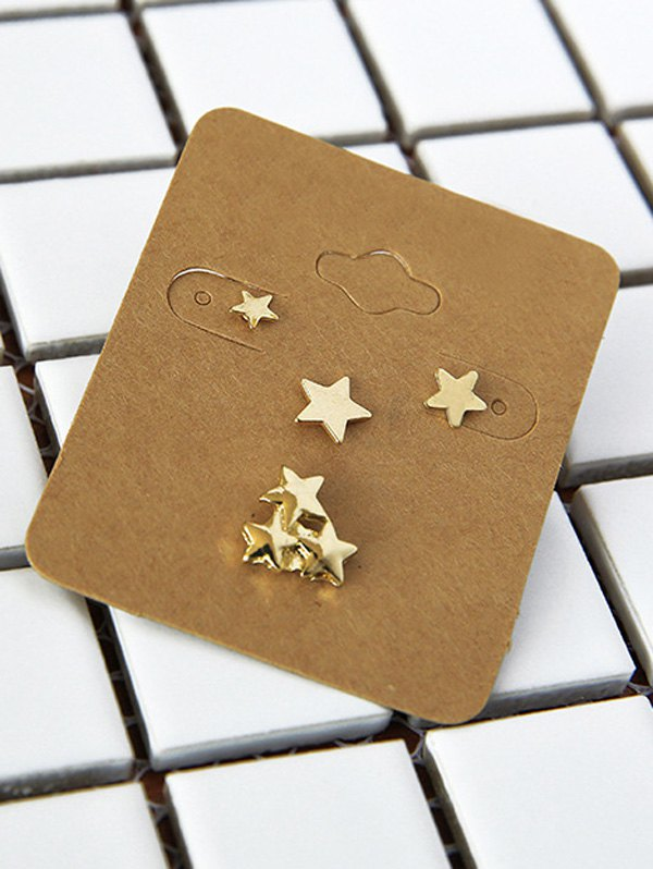 Five-Pointed Star Stud Earrings