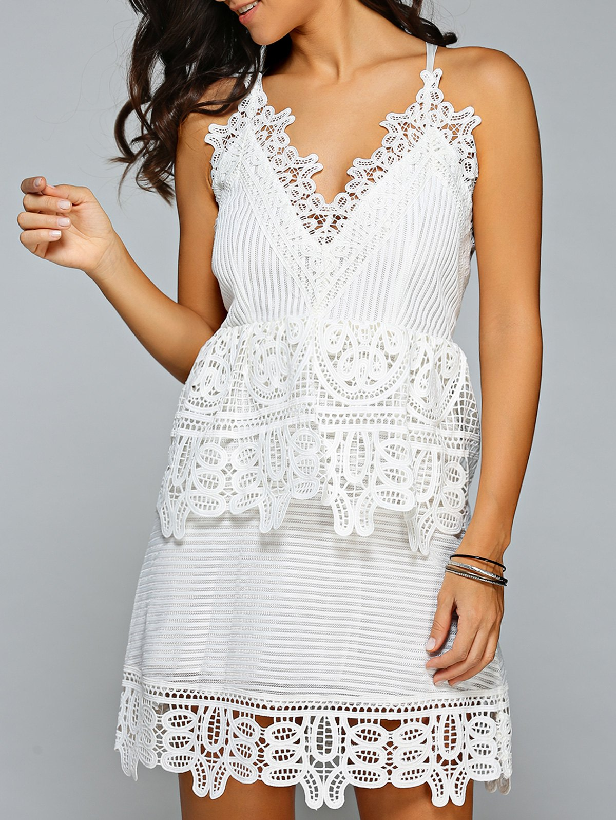 A Line Cami Lace Dress