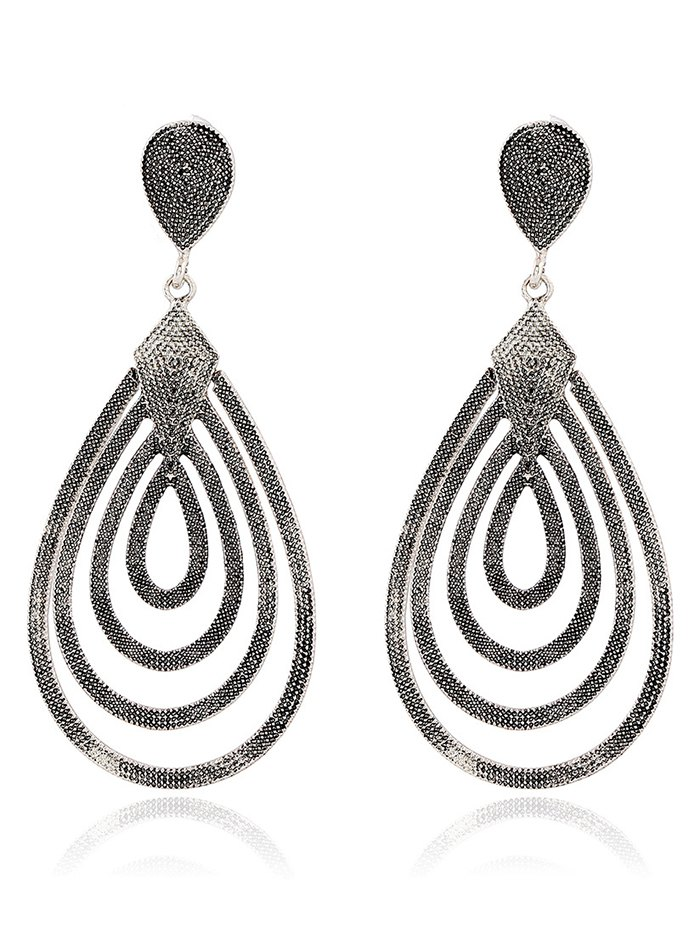 Filigree Water Drop Shape Earrings