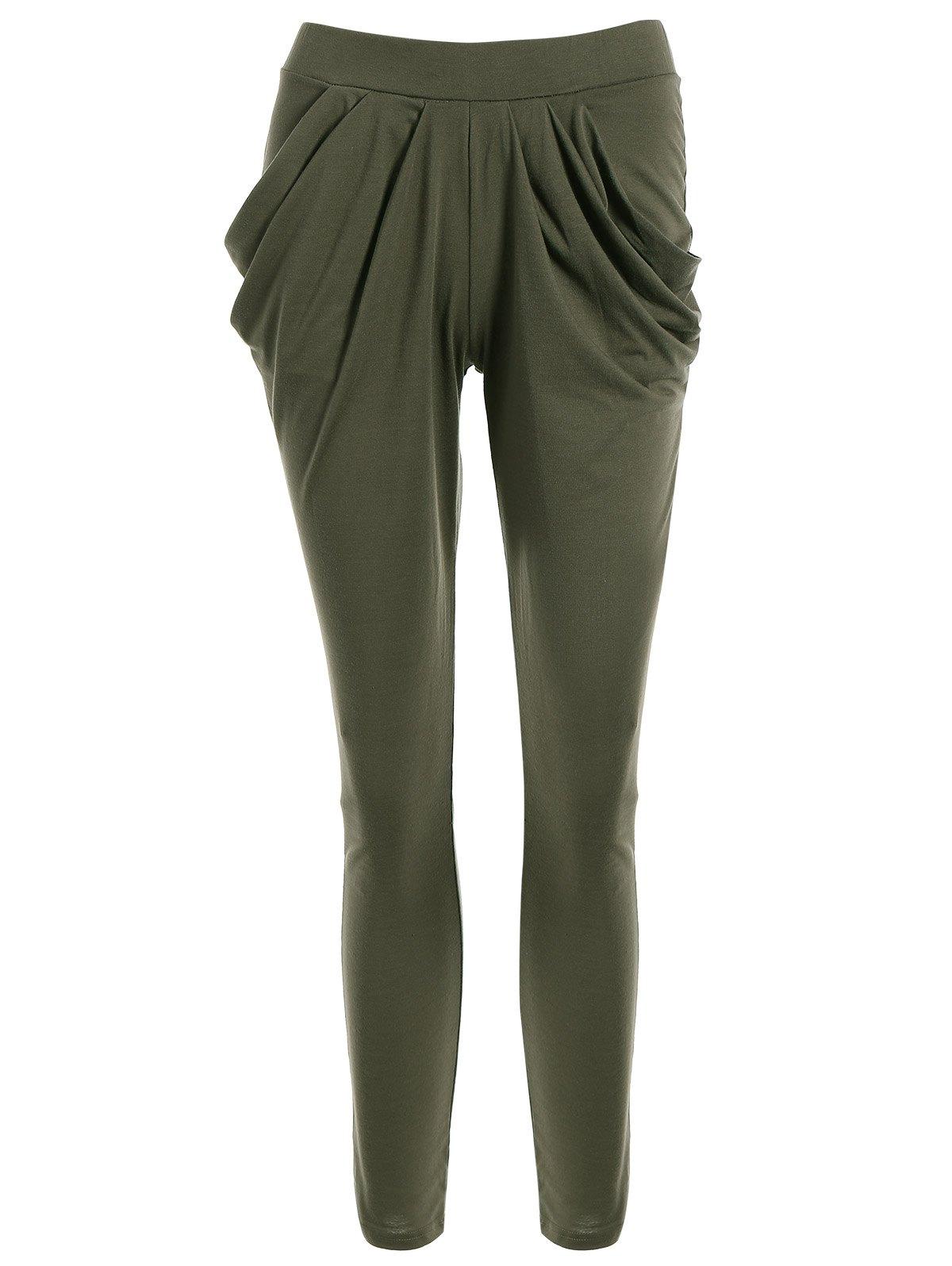 Work Harem PantsClothes<br><br><br>Size: M<br>Color: OLIVE GREEN
