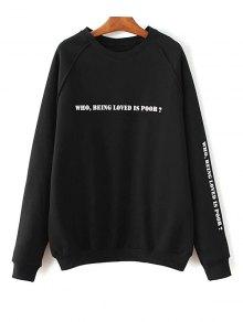 Raglan Sleeve Letter Sweatshirt
