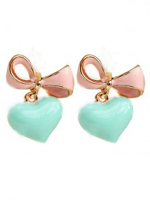 Bowknot Heart Drop Earrings