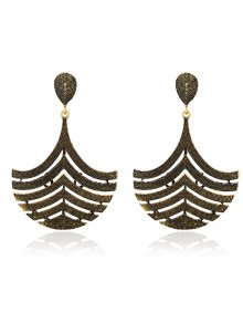 Filigree Half Teardrop Earrings