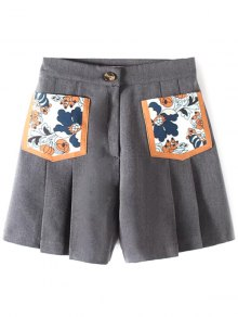 Pleated Pocket Patch Shorts