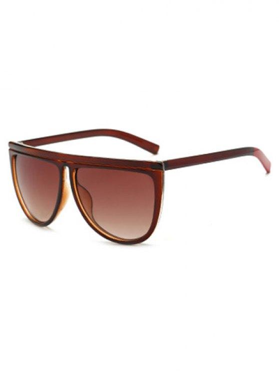 hot Color Block Leg Oversized Sunglasses - TEA-COLORED