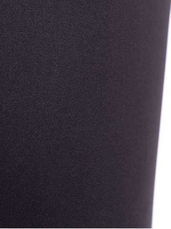 Tight Fit Yoga Leggings - WHITE AND BLACK M Mobile