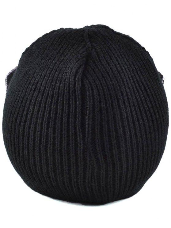 Moon Knit Cat Ear Hat - BLACK  Mobile
