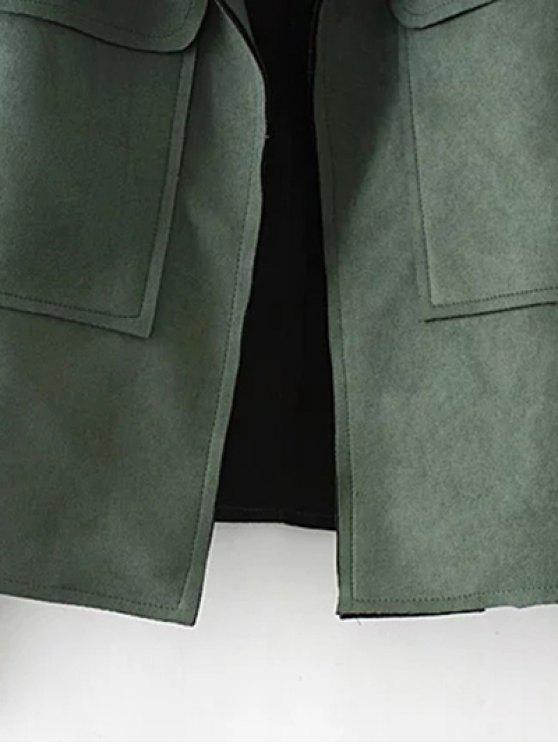 Plus Size Suede Jacket - BLACK 3XL Mobile