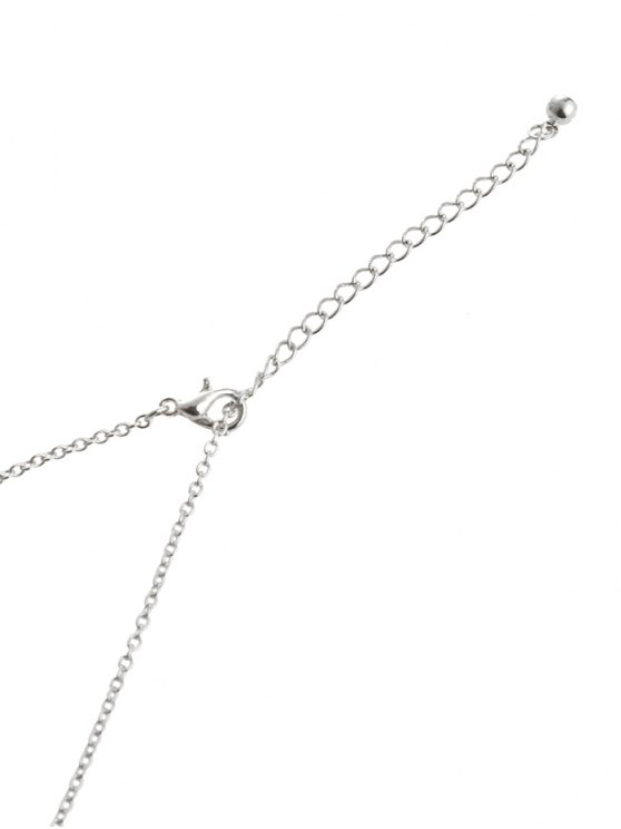 Vintage Tassel Hollow Out Hand Pendant Necklace - SILVER  Mobile