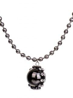 Geometric Ball Sweater Chain - Silver Gray