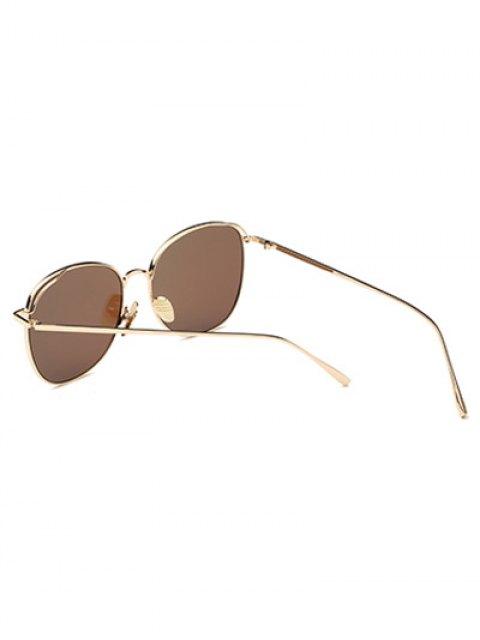 women's Irregular Square Metal Mirrored Sunglasses - ICE BLUE  Mobile