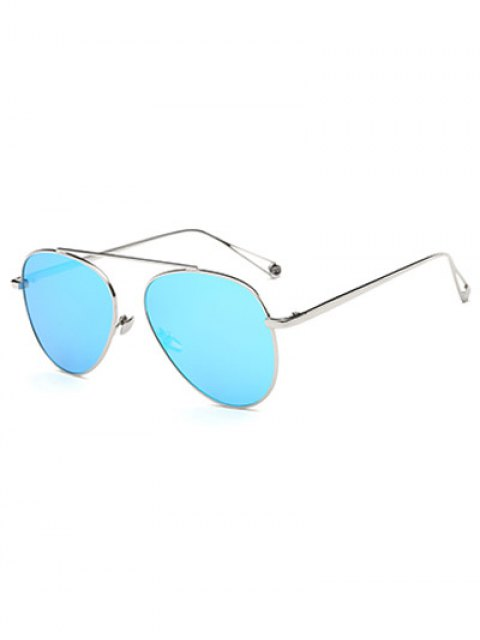 online Lightweight Metal Mirrored Pilot Sunglasses - ICE BLUE  Mobile