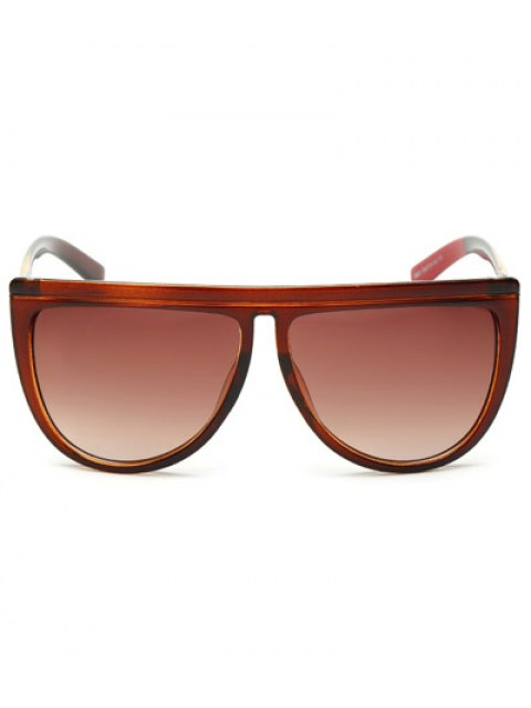 hot Color Block Leg Oversized Sunglasses - TEA-COLORED  Mobile