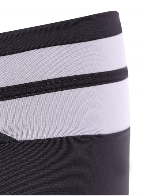 shops Tight Fit Yoga Leggings - WHITE AND BLACK M Mobile