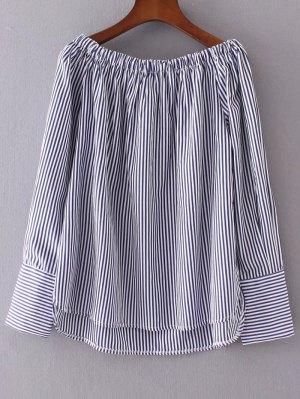 Off The Shoulder Stripes Peasant Blouse - Stripe