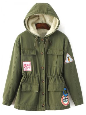 Fleece Parka Coat - Army Green