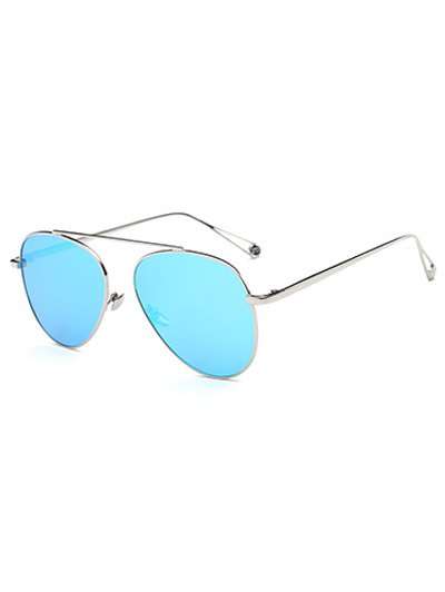 Metal Mirrored Pilot Sunglasses