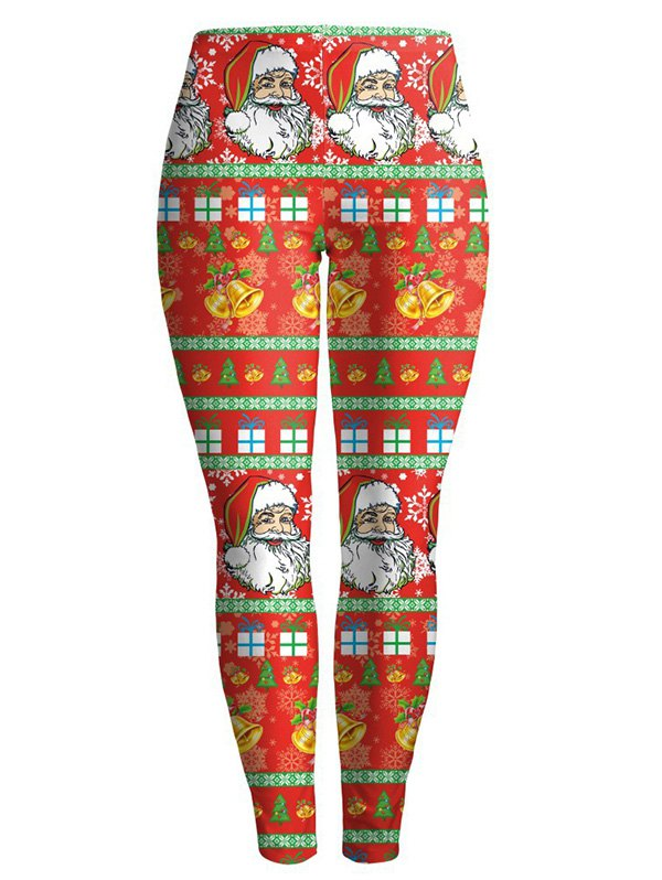 Christmas Santa Clause LeggingsClothes<br><br><br>Size: L<br>Color: RED