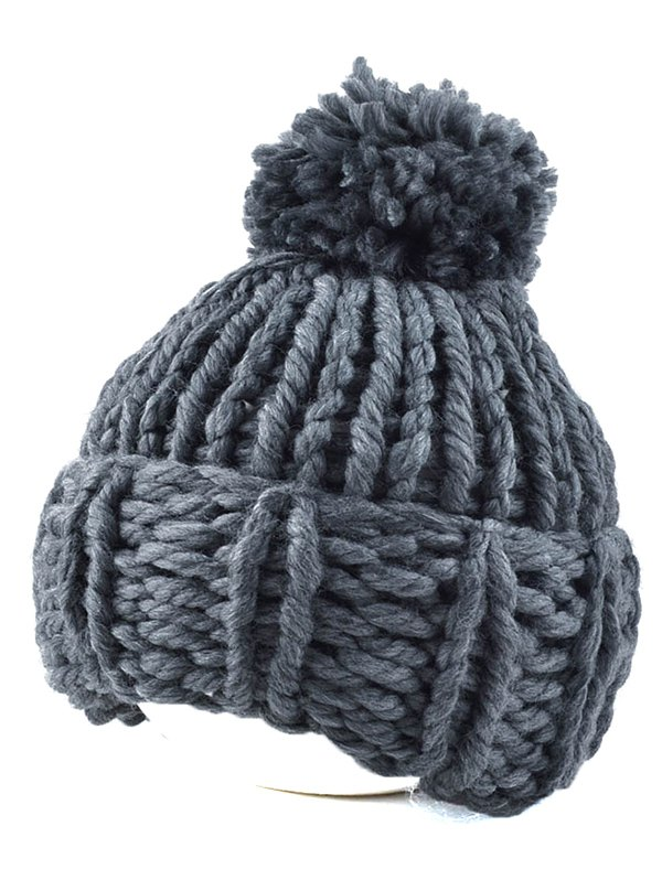 Flanging Coarser Knit Hat