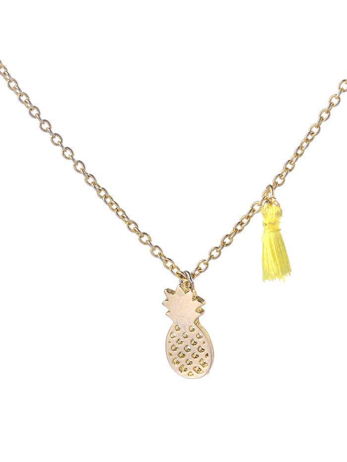 Alloy Tassel Pineapple Pendant Necklace