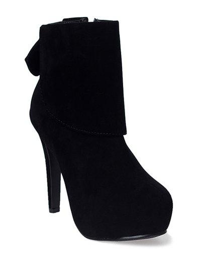 Bowknot Flock Short Boots
