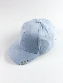 Círculo Del Aro De Gamuza Sintética Sombrero De Béisbol - Azul Claro