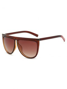 Color Block Leg Oversized Sunglasses