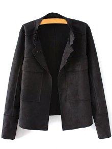 Plus Size Suede Jacket
