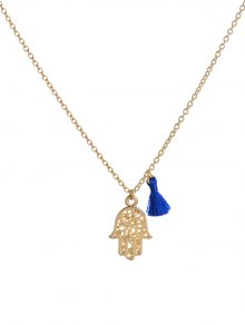 Buy Vintage Tassel Hollow Hand Pendant Necklace - GOLDEN