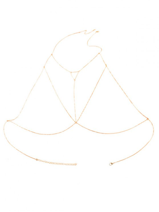 Alloy Hollow Out Triangle Body Chain - GOLDEN  Mobile
