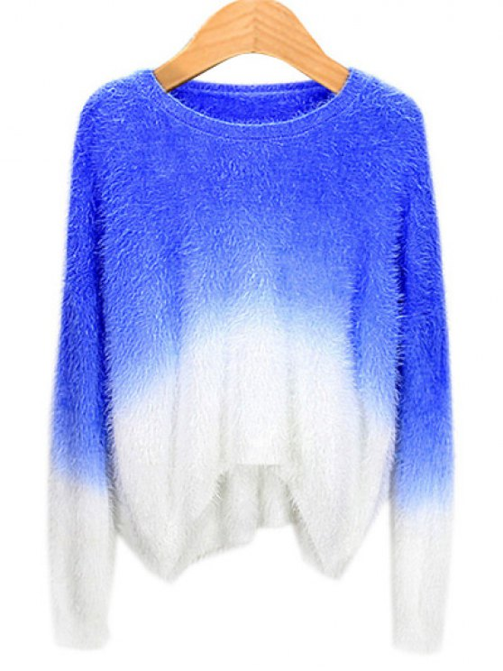 buy Ombre Mohair Sweater - SAPPHIRE BLUE ONE SIZE