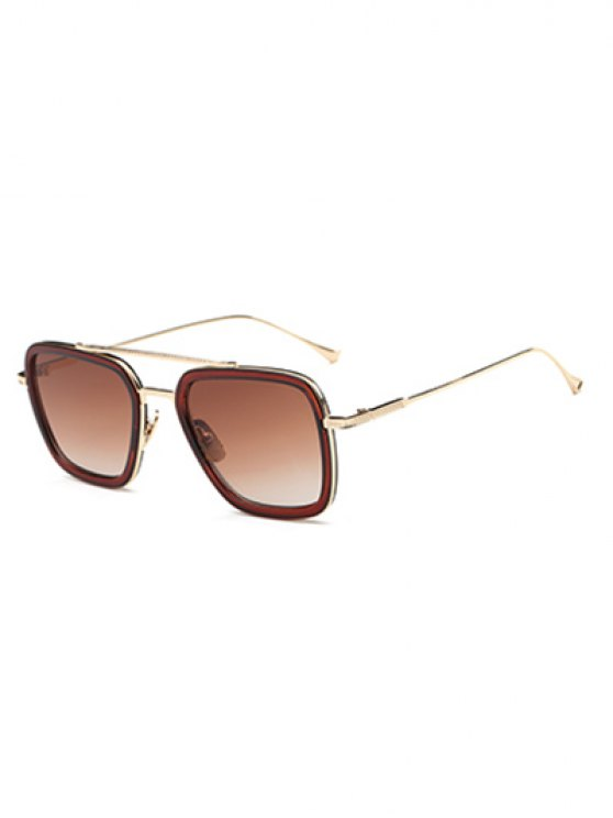 Irregular dos pisos de Llantas gafas de sol - Té