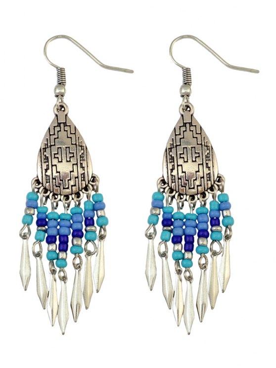 affordable Chandelier Hook Earrings - BLUE